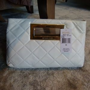 Michael Kors  Berkeley white clutch